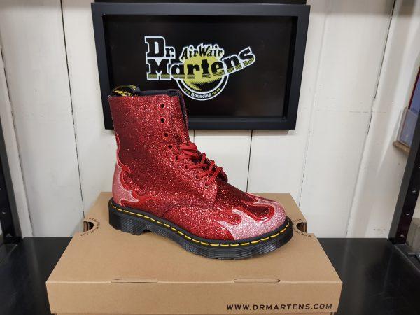 red glitter dr martens